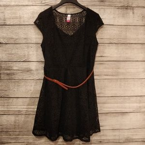 Black Lace Fit and Flare Dress xl